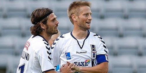 (AGFFodbold.dk) Peter Graulund og Martin Jørgensen